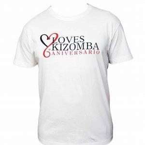 Camiseta blanca de hombre del LovesKizomba 6ºAniversario.