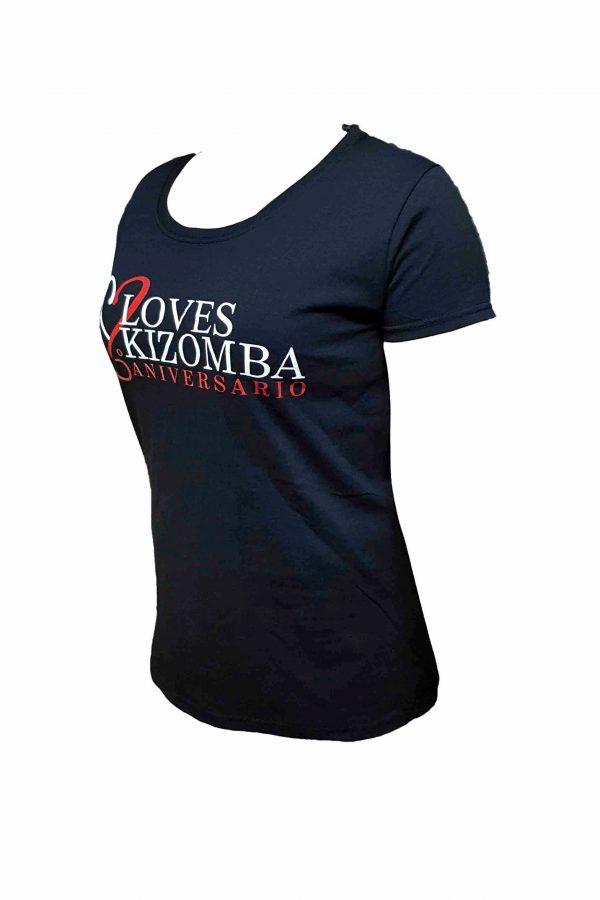 Camiseta Negra de Mujer del LovesKizomba 6ºAniversario