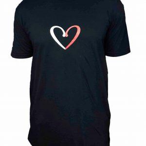 Camiseta extra larga negra unisex LovesKizomba 6ºAniversario.